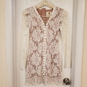 The Jetset Diaries White Lace Dress